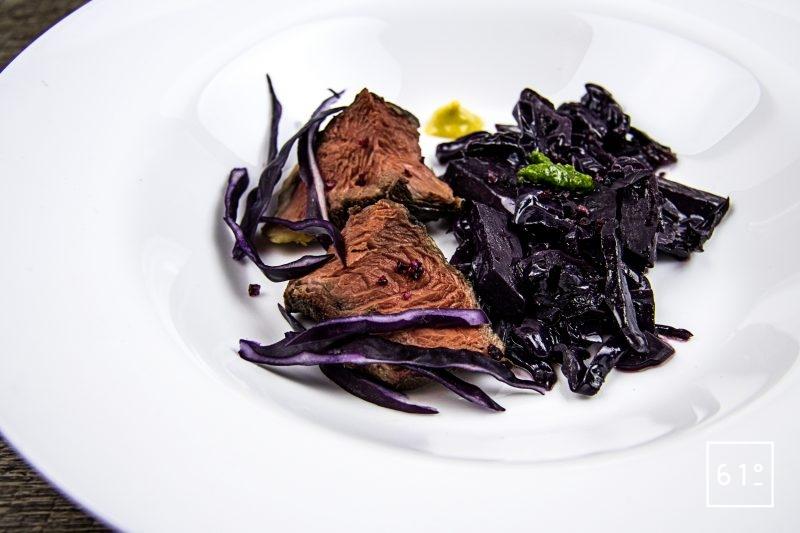Picanha de Galice au chou rouge au vin