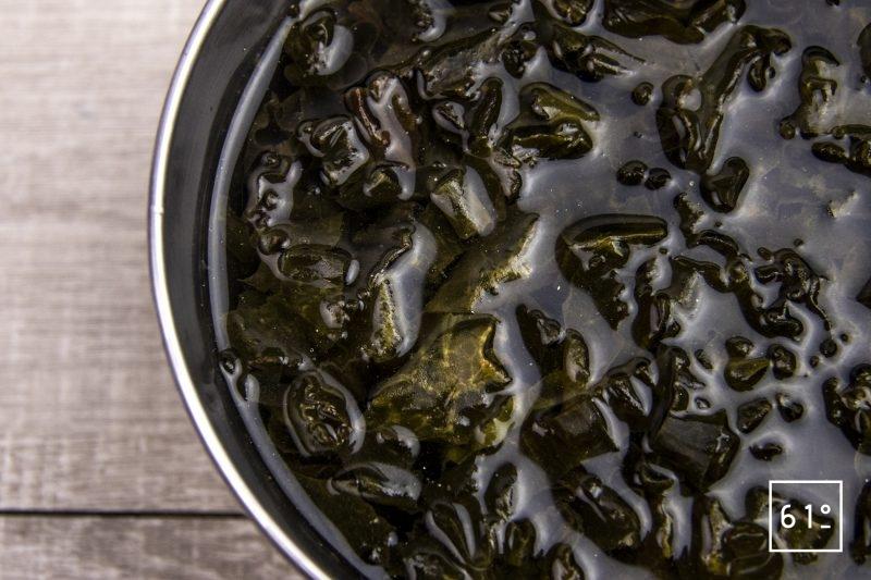 Vinaigre au Kombu - réhydrater les algues Kombu