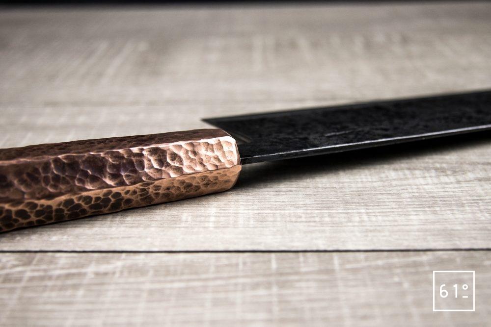 Le santoku de Thomas Galice - l'épaisseur de lame au niveau du manche