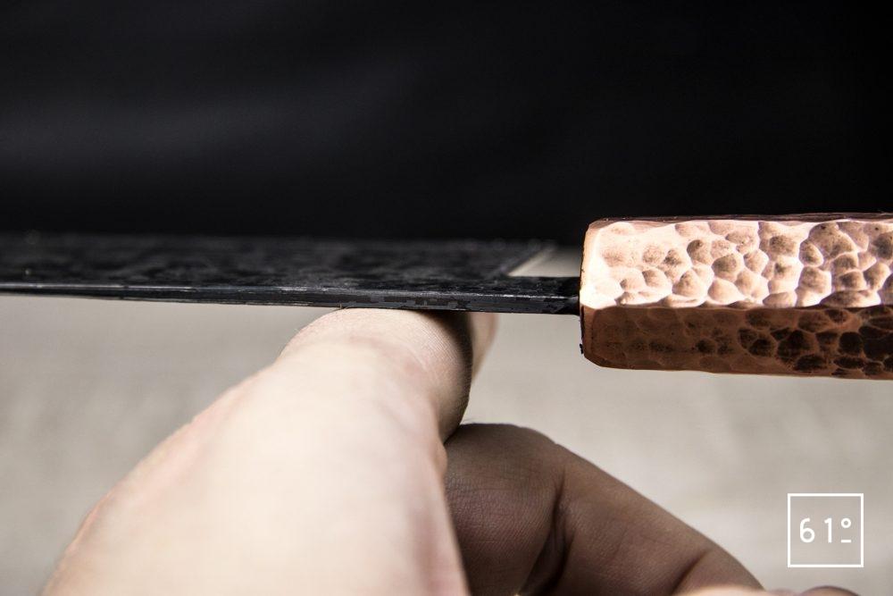 Le santoku de Thomas Galice - l'équilibre du couteau