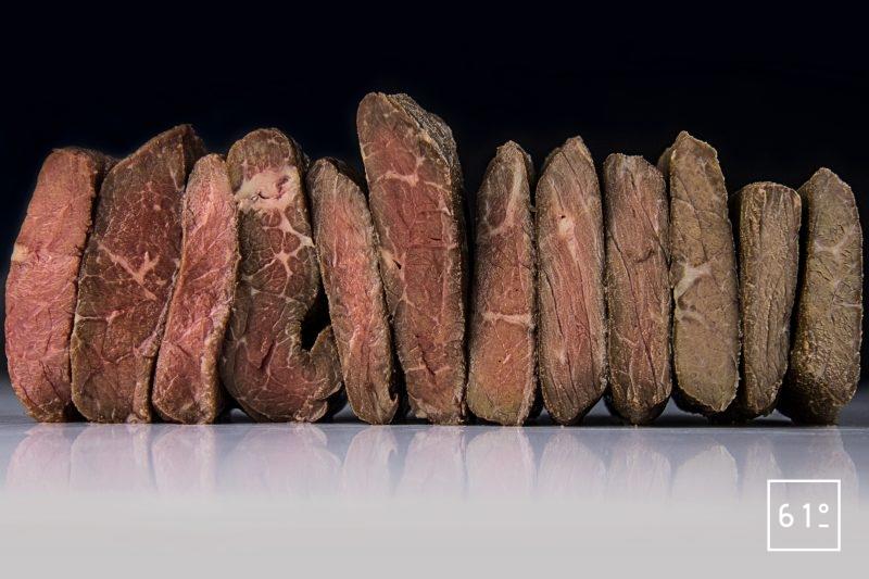Température de cuisson du bœuf tendre sous vide