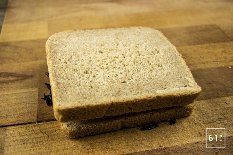 Croc bucheron - ajouter la seconde tranche de pain