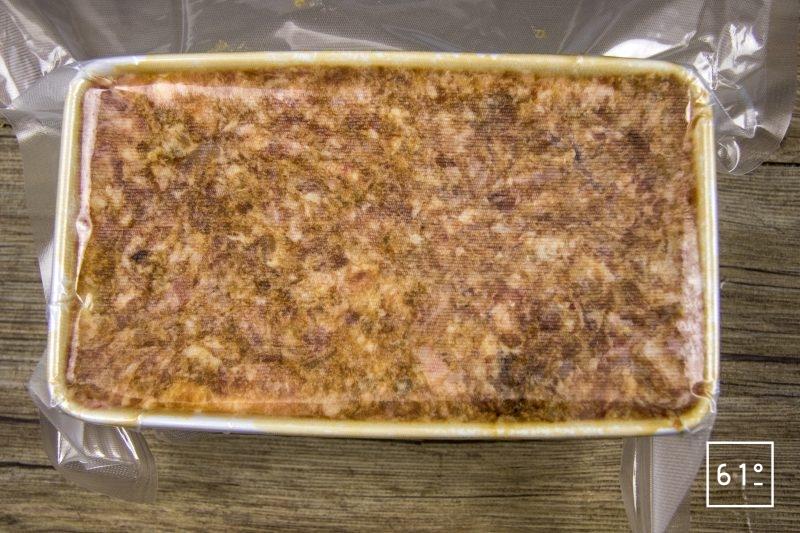 Pâté aux échalotes et oignons lactofermentés - mettre sous vide