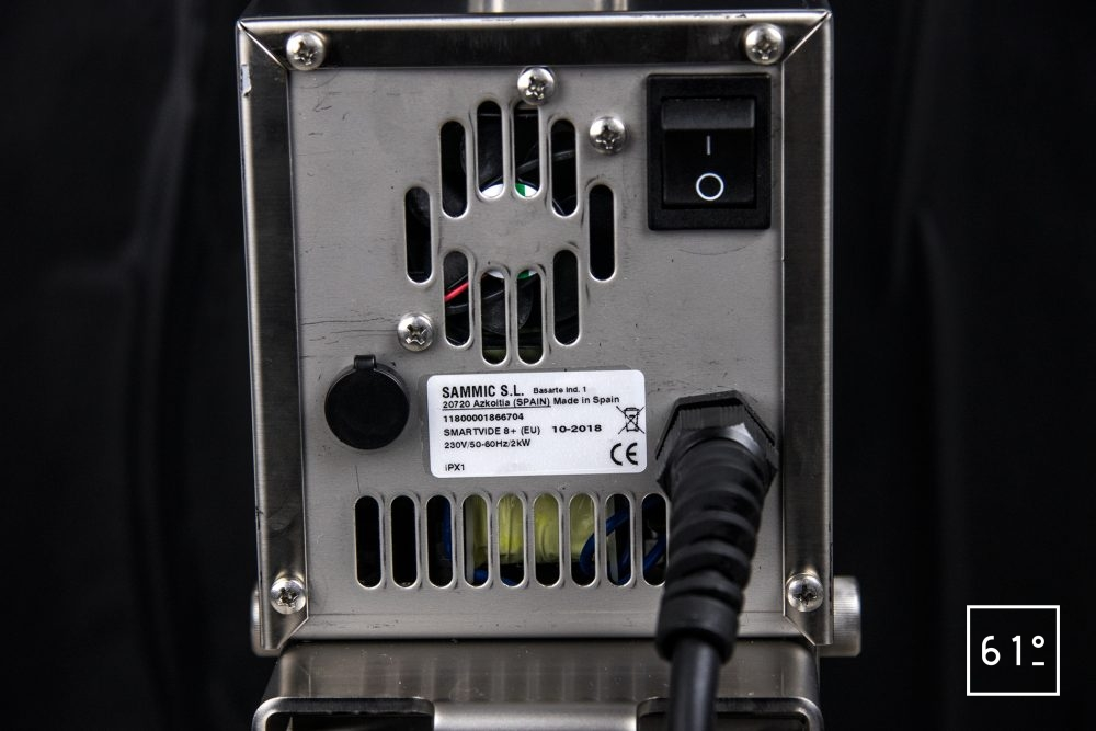Thermoplongeur SmartVIde 8 plus de chez Sammic - arrière
