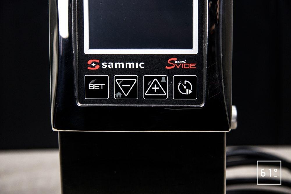 Thermoplongeur SmartVIde 8 plus de chez Sammic - commande de gestion de programmation