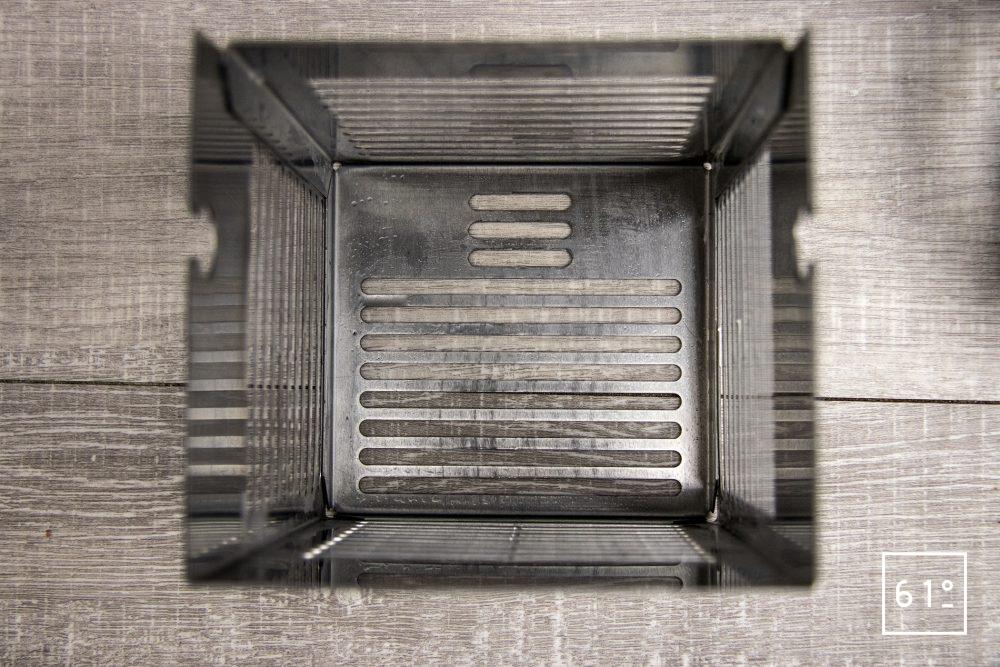 Thermoplongeur SmartVIde 8 plus de chez Sammic - intérieur de la cage de protection du système de chauffe