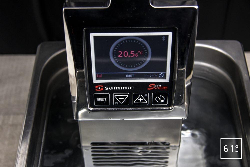 Thermoplongeur SmartVIde 8 plus de chez Sammic - programmation