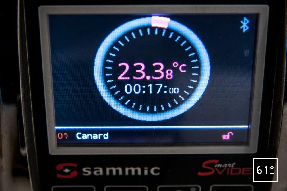 Thermoplongeur SmartVIde 8 plus de chez Sammic - recette lancée sur le thermoplongeur