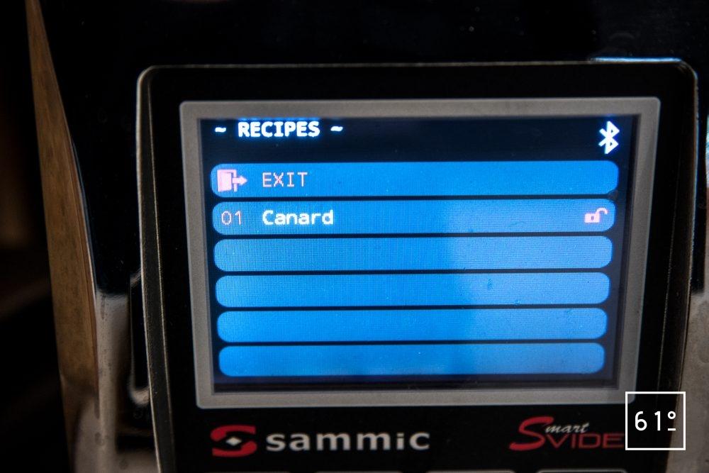 Thermoplongeur SmartVIde 8 plus de chez Sammic - sélectionner une rectte