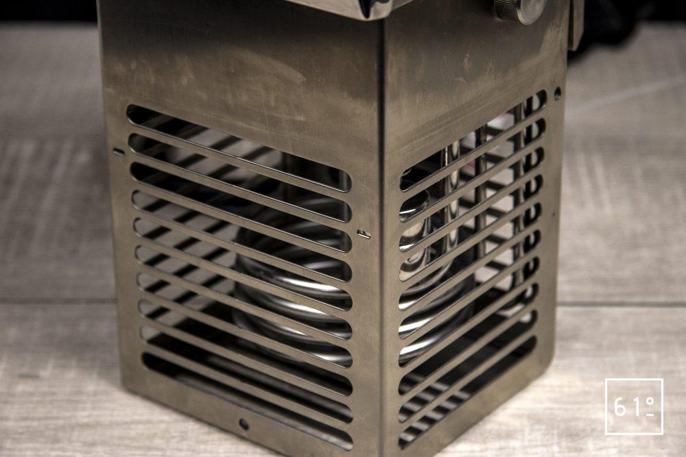 Thermoplongeur SmartVIde 8 plus de chez Sammic - Système de chauffe dans sa cage de protection