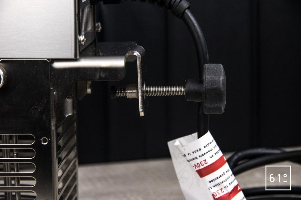 Thermoplongeur SmartVIde 8 plus de chez Sammic - système de fixation