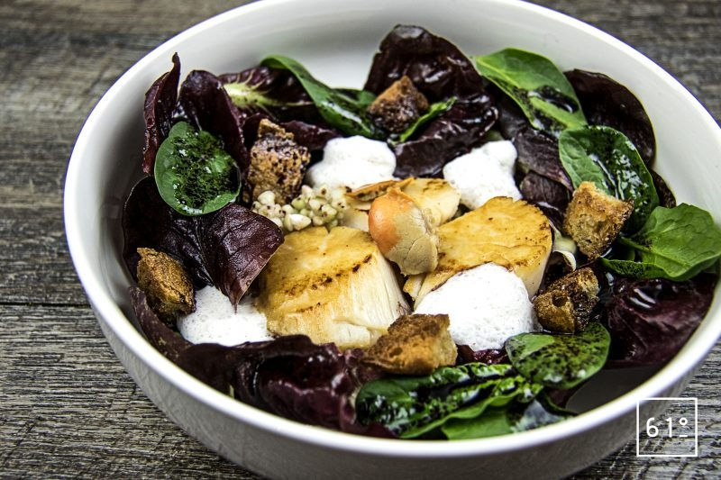 Salade de chicorée et noix de St Jacques