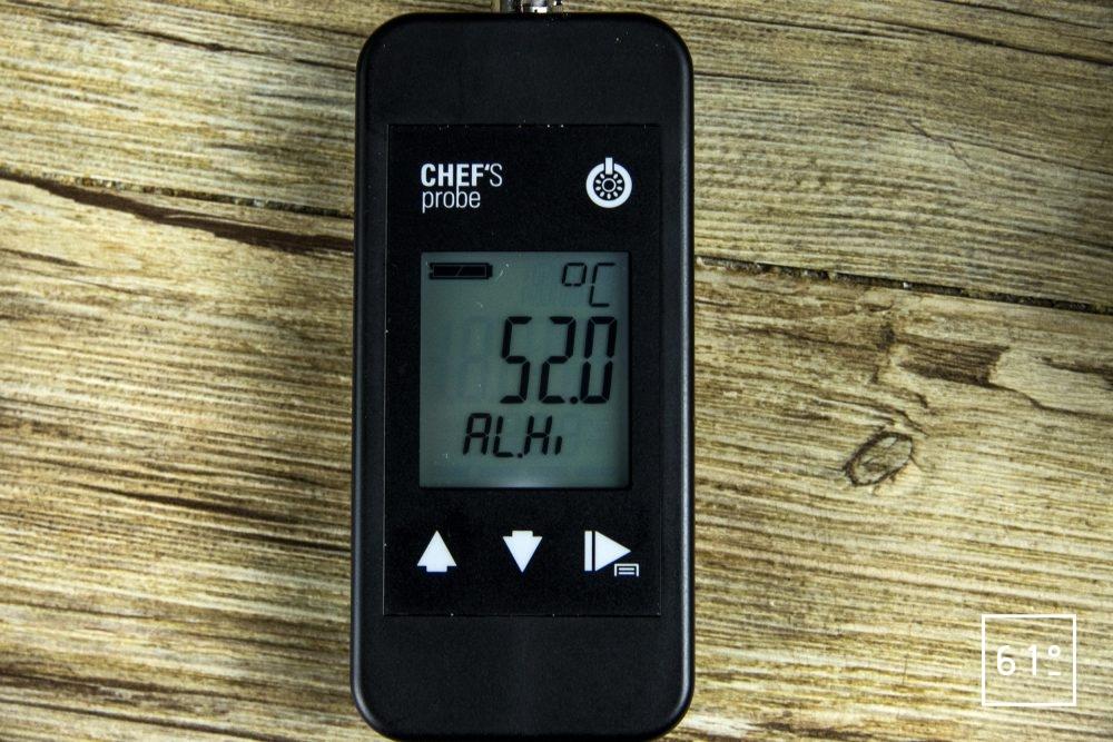 Sonde Pt 1000 Chef's Probe - réglage alarme température maxi