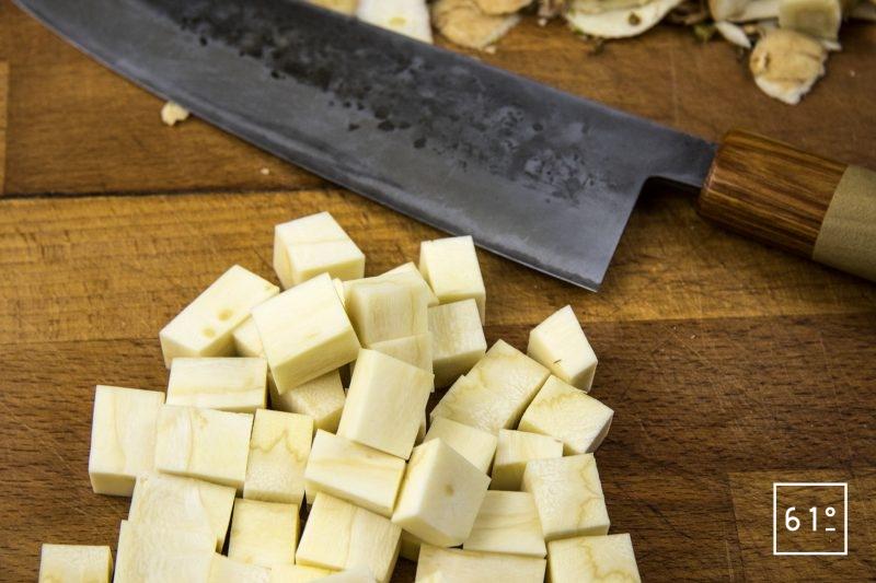 Wagyu façon carbonnade Flamande - préparer les panais