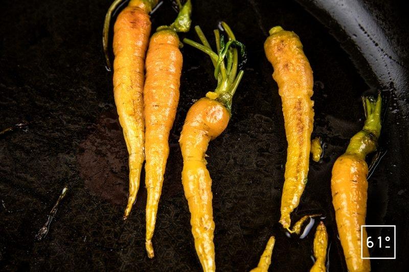 Faux filet de Simmental basse température accompagné de carottes et sauce carotte - cuire les mini carottes