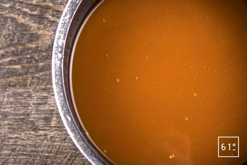 Faux filet de Simmental basse température accompagné de carottes et sauce carotte - reduire la sauce