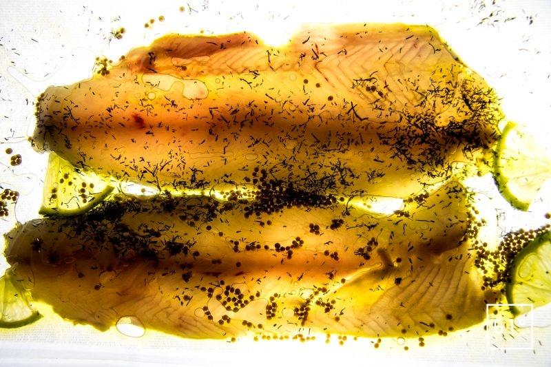 Truites Fario au vin jaune - cuire sous vide à ultra basse température