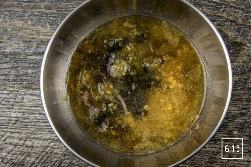 Vinaigre Dashi : vinaigre fumé et infusé au kombu et au katsuobushi - rassembler les ingrédients