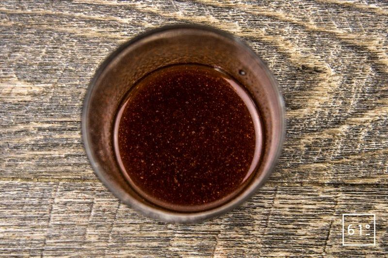 Filet de dorade au chorizo - préparer le mélange d'épices et d'huile