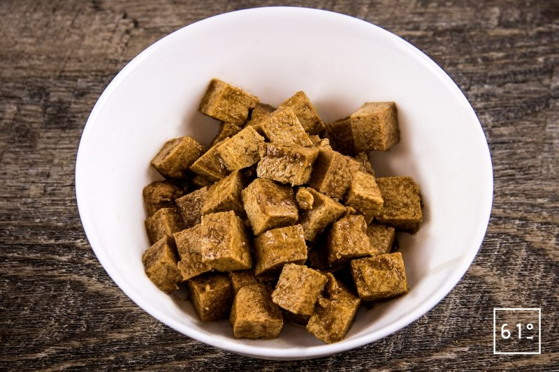 Tofu mariné et grillé