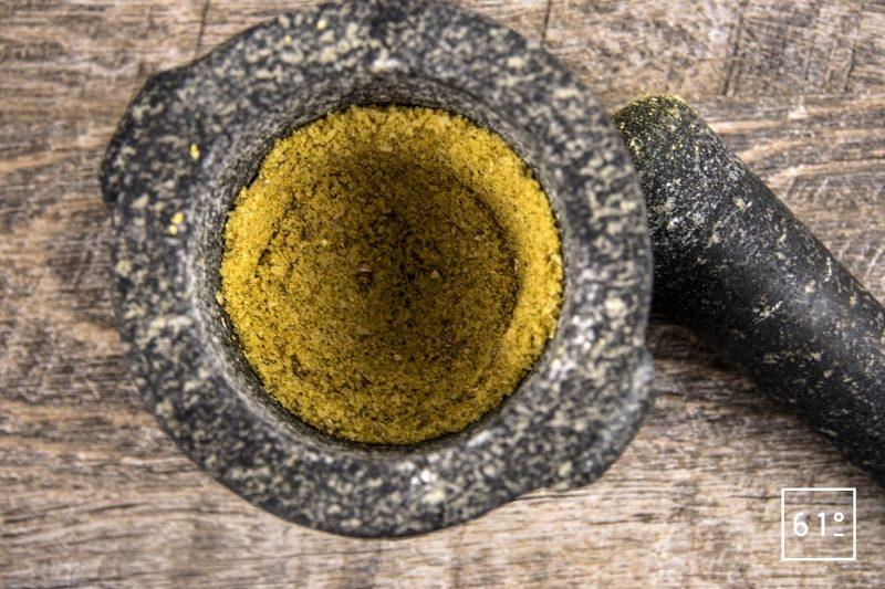 Brochet mariné au sel des vikings - préparer le mélange