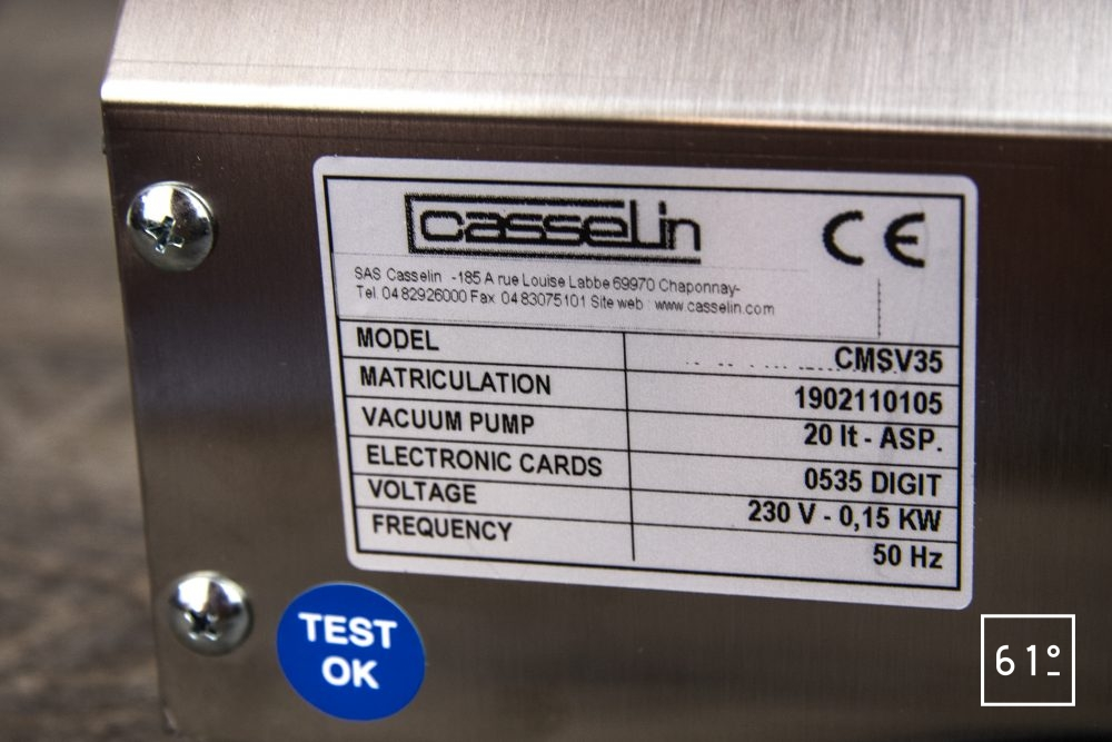 Review de la sous videuse réglette Casselin CMSV35 - vu arrière gros plan