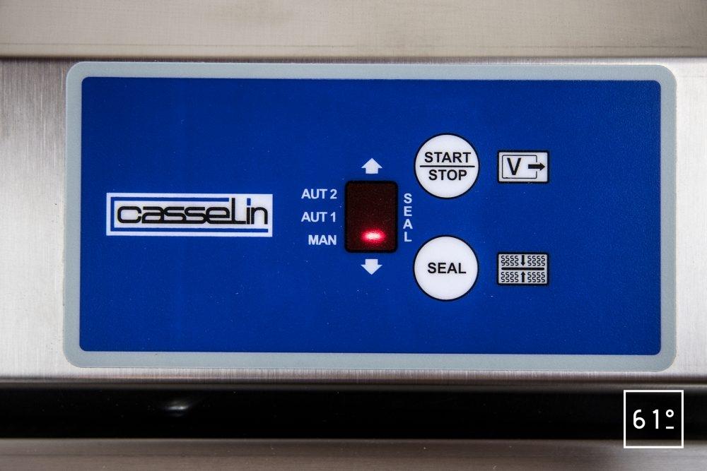 Review de la sous videuse réglette Casselin CMSV35 - commande