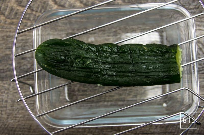 Eau de concombre - laisser décongeler