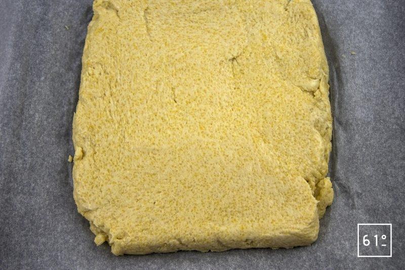 Carré d'agneau et polenta - laisser refroidir la polenta