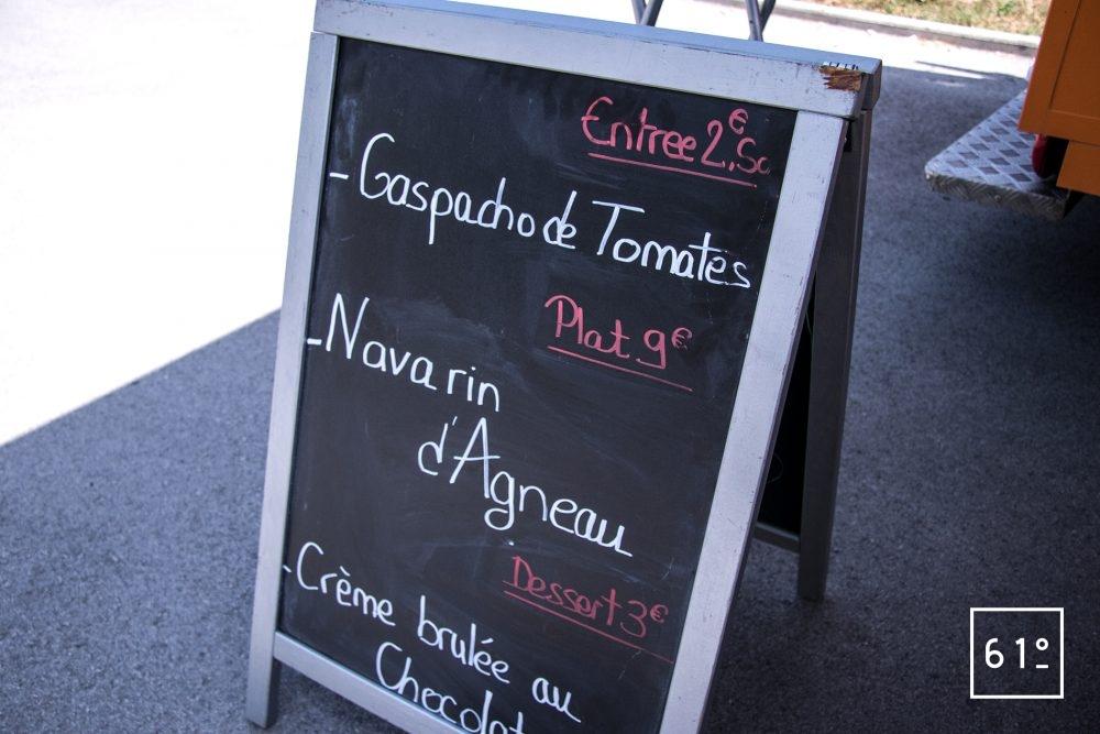 L'Eatinérant - au menu
