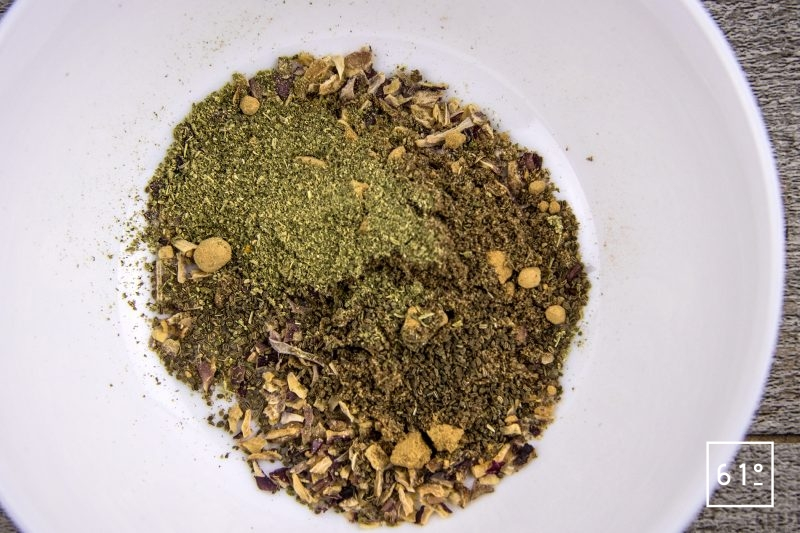Sauce saté - préparer le mélange d'épices