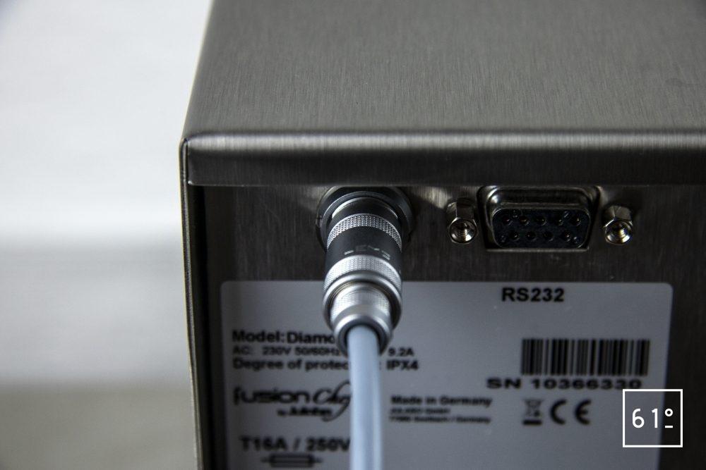 Test du thermoplongeur Diamond de FusionChef Julabo - connexion à la sonde