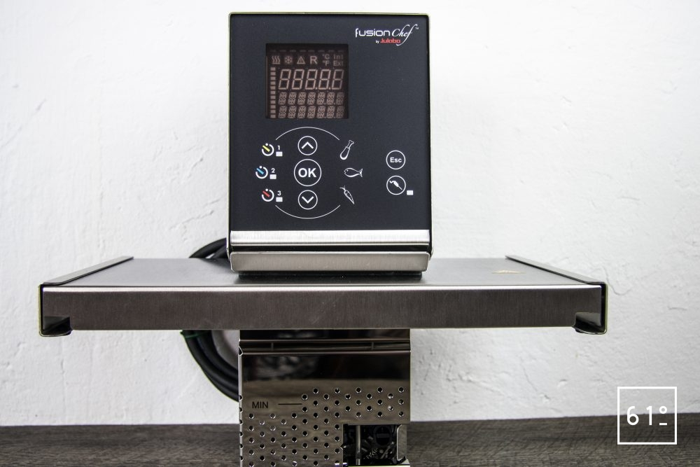 Test du thermoplongeur Diamond de FusionChef Julabo - de face