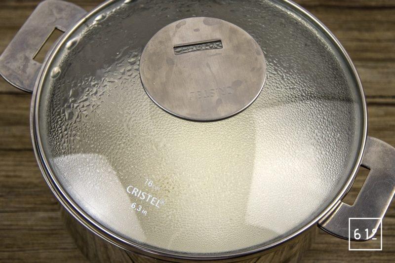 Palourdes basse température, fenouil, sur jus de veau gélifier, émulsion de fenouil - laisser infuser