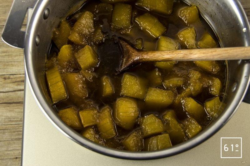 Confiture de butternut - cuire