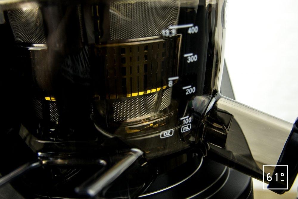 Extracteur de jus Kuving EVO820 - détail tamis à jus