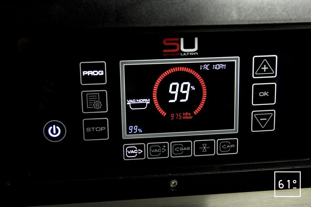 Emballeuse sous vide à cloche Sammic SU 310 - mise sous vide d'un bac externe