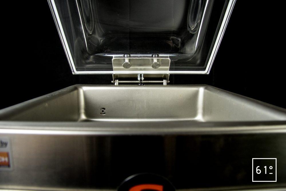 Emballeuse sous vide à cloche Sammic SU 310 - capot ouvert