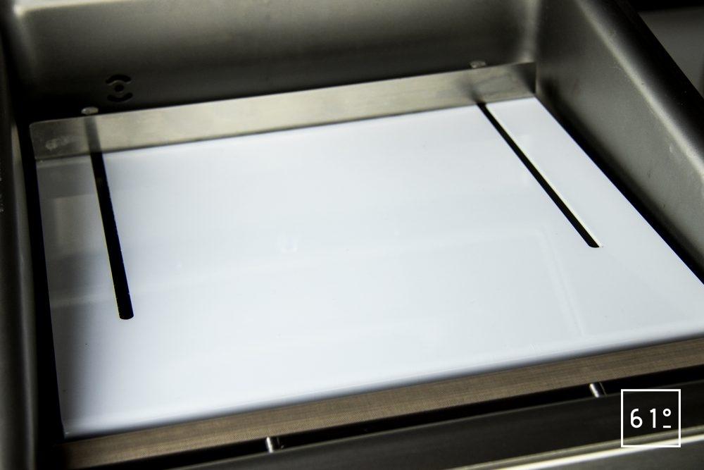 Emballeuse sous vide à cloche Sammic SU 310 - plateau incliné