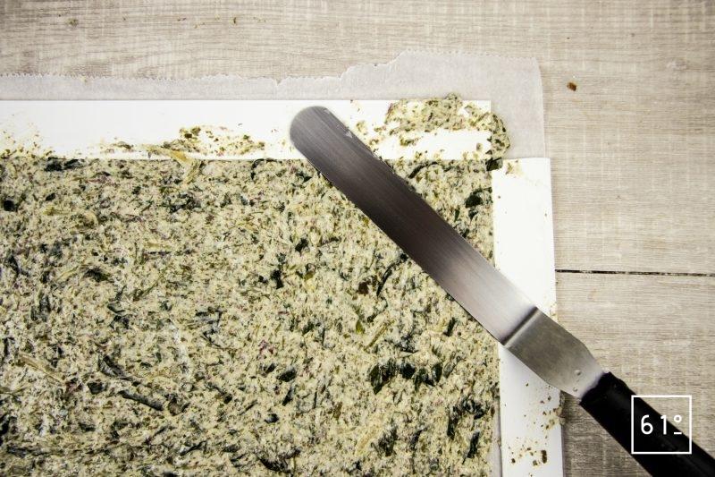 Crackers d'algues - étaler