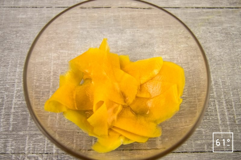 Pickles de butternut au vinaigre de mangue