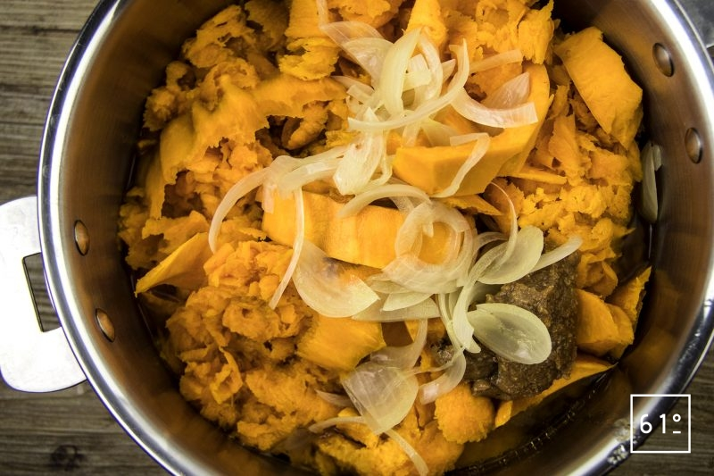 Soupe de potimarron - faire cuire
