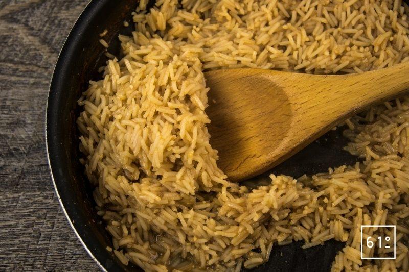 Arancini de porc et tomate - cuire le riz pilaf