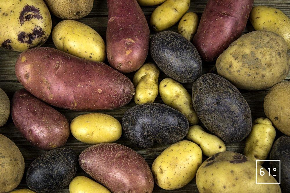 Les différentes variétés de pommes de terre