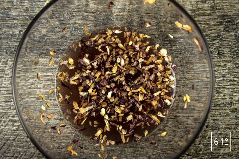 Sauce type bourguignonne - réhydrater les échalotes