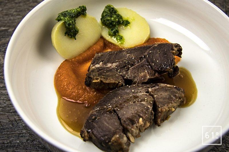 Joue de bœuf basse température sous vide au shio koji
