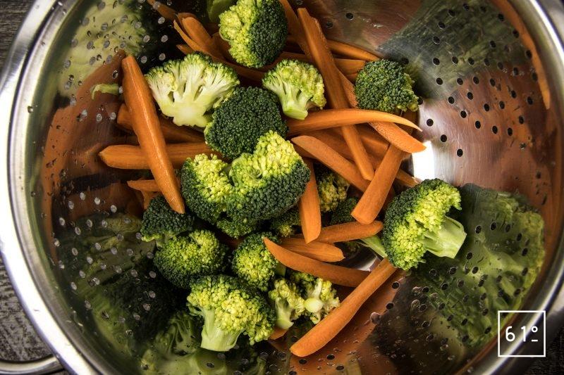Tendron de veau en blanquette - préparer les légumes