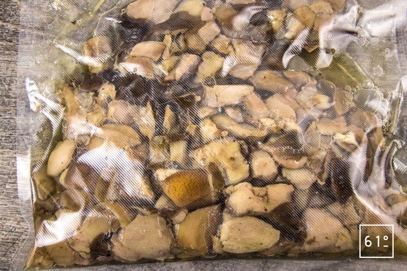 Jus de cèpes extrait par cryoconcentration - laisser décongeler
