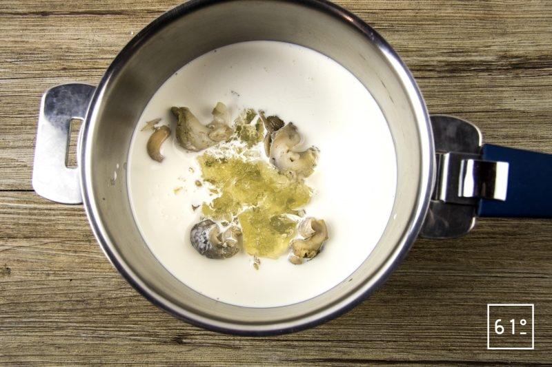 Œuf parfait à 64 °C et salade de bulots aux champignons des bois - faire infuser