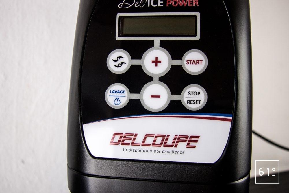 Delcoupe DELICE POWER - commande avec écran LCD